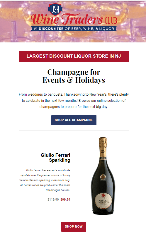 Champagne Email | Email Marketing | Digital Marketing | Email Campaigns